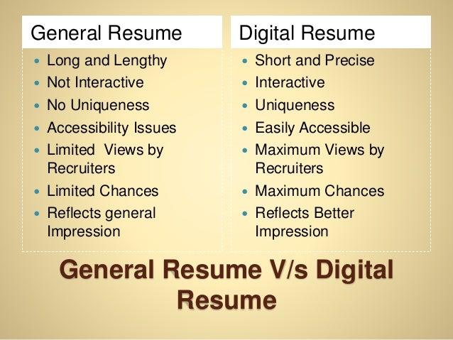 What is Digital Resume?