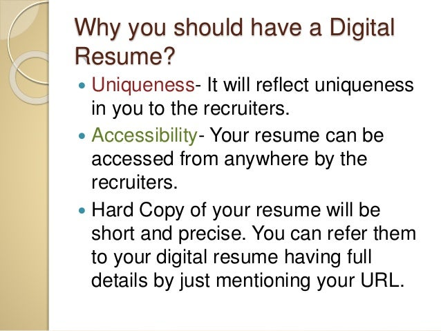 Digital Resume illustrator 9 Why You Should Have A Digital Resume
