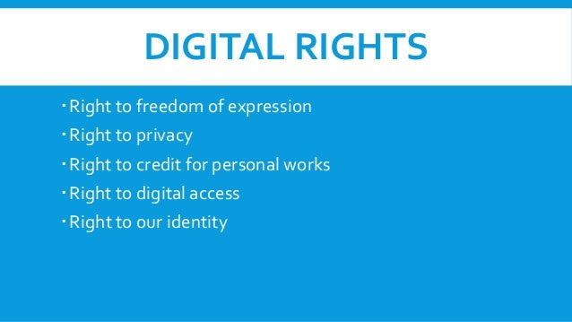 Digital rights and responsibilities ppt