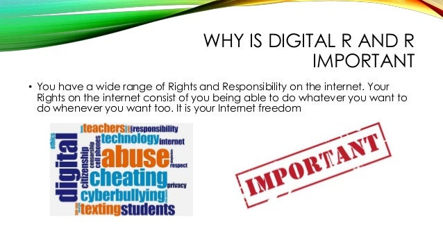 what ethical responsibilities do internet users have Internet encyclopedia of  consists in judging one's own responsibilities hence, we do not tend to describe a  legal and moral responsibility have no.