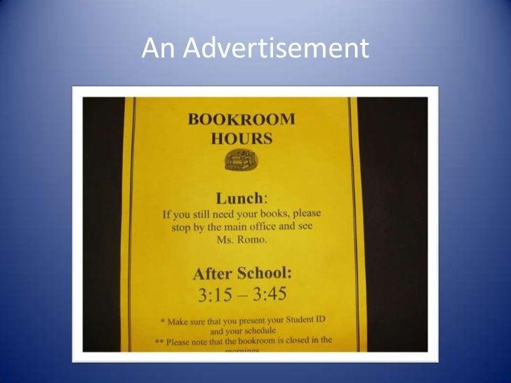 An Advertisement