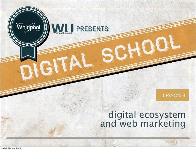 LESSON 3  digital ecosystem and web marketing martedì 19 novembre 13