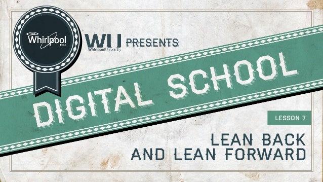 LESSON 7  lean back and lean forward