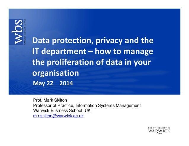 Prof. Mark Skilton Professor of Practice, Information Systems Management Warwick Business School, UK m.r.skilton@warwick.a...