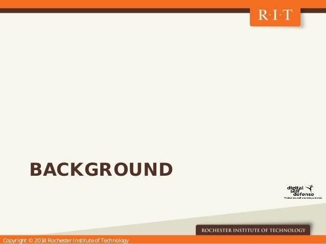 Digital Self Defense at RIT Slide 3