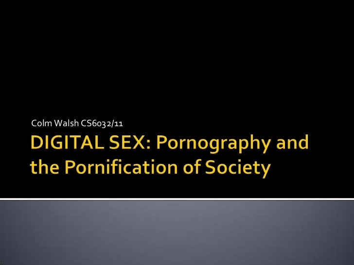 DIGITAL SEX: Pornography and the Pornification of Society<br />Colm Walsh CS6032/11<br />