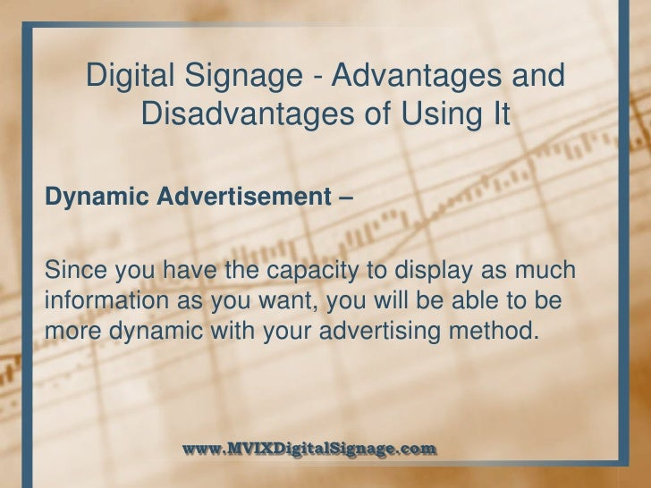 advantages disadvantages of advertising through Advantages and disadvantages of using email advantages emails are delivered  extremely fast when compared to traditional post emails can be sent 24 hours.