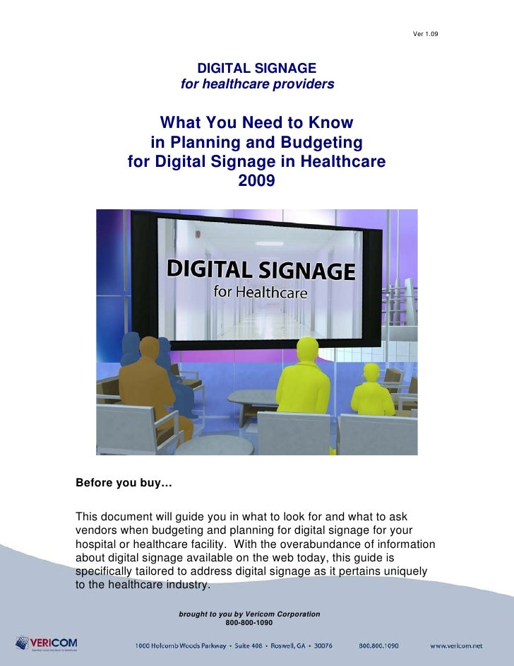 Digital Signage In Healthcare   What You Need To Know