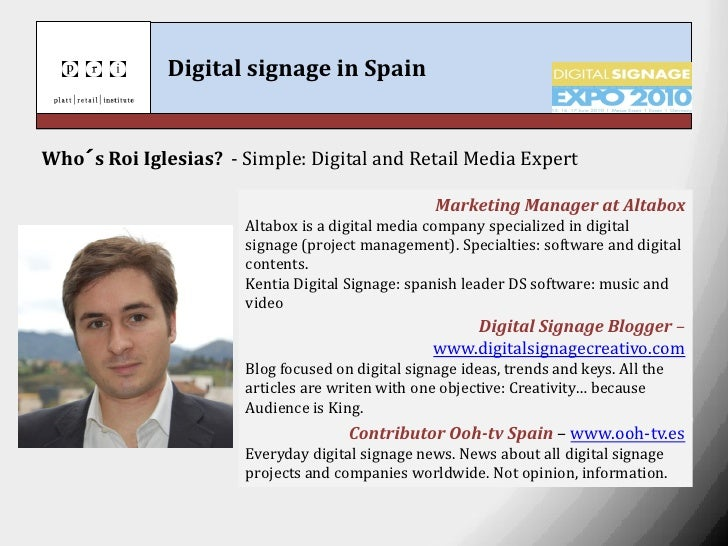Digital signage in spain  Slide 2