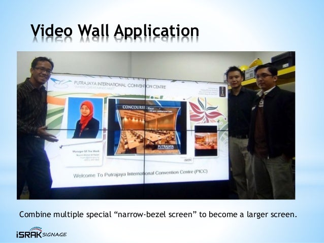 """Video Wall Application Combine multiple special """"narrow-bezel screen"""" to become a larger screen."""