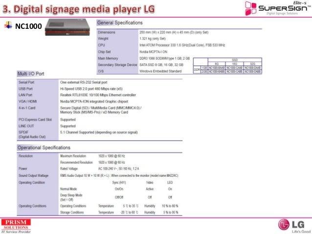 Digital signage solution training