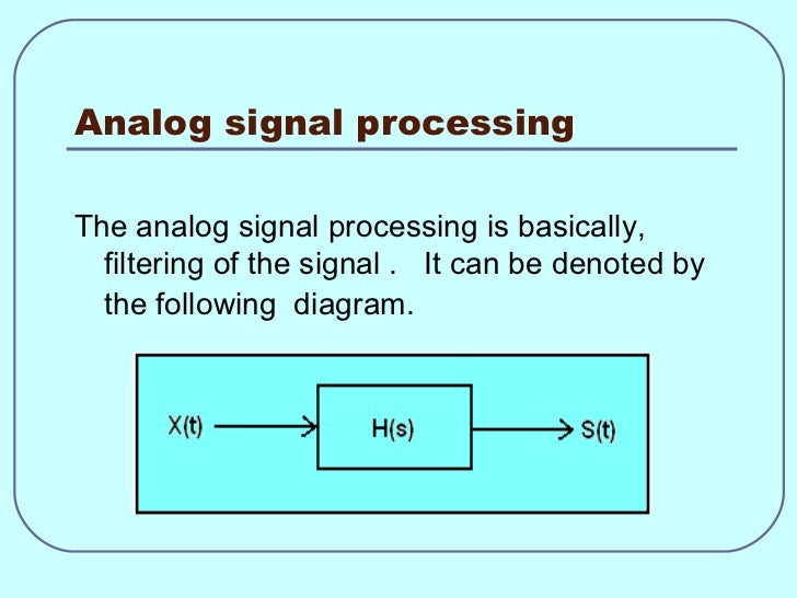 digital signal processing, Wiring block