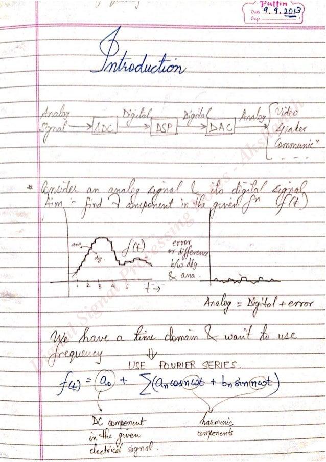 Digital signal processing notes - Akshansh Slide 3