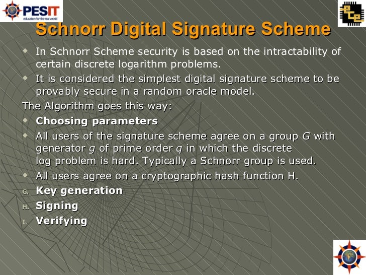 Image result for SCHNORR SIGNATURES
