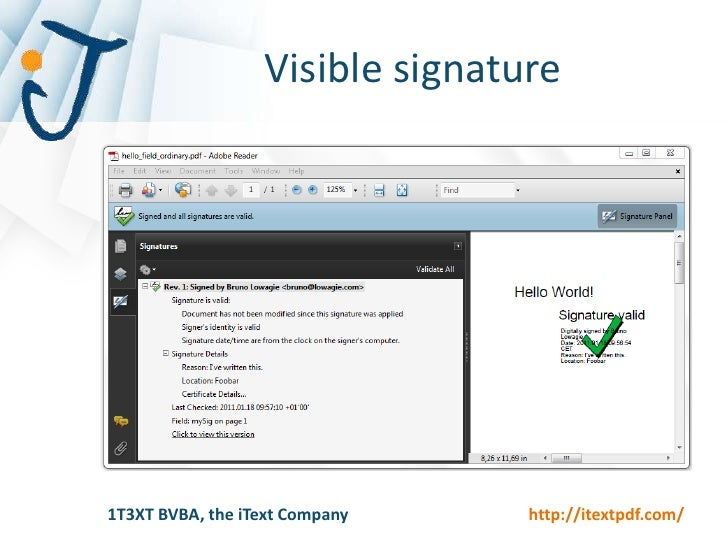 PDF Digital signatures