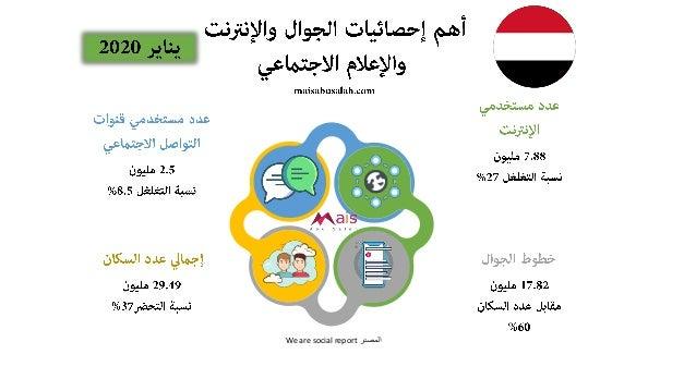 تقرير: أهم إحصائيات الجوال والإنترنت والإعلام الاجتماعي للدول العربية 2020