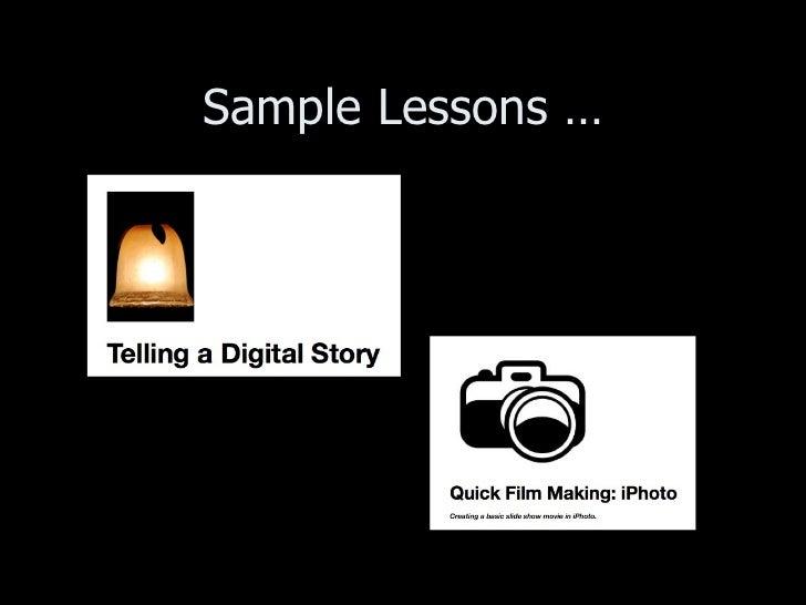 Sample Lessons …
