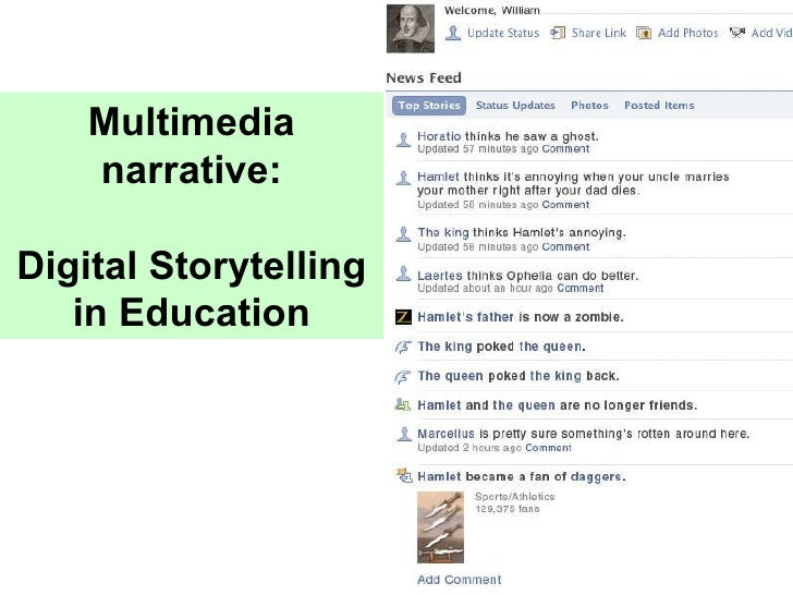 Multimedia narrative: Digital Storytelling in Education