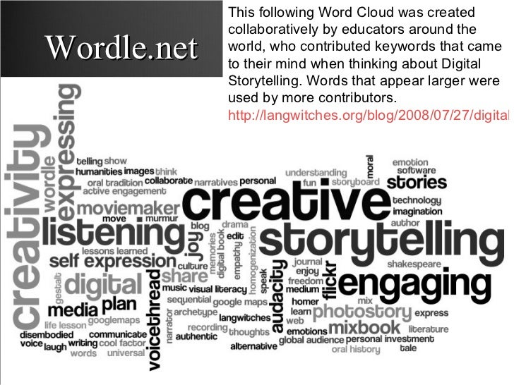 Wordle.net This following Word Cloud was created collaboratively by educators around the world, who contributed keywords t...