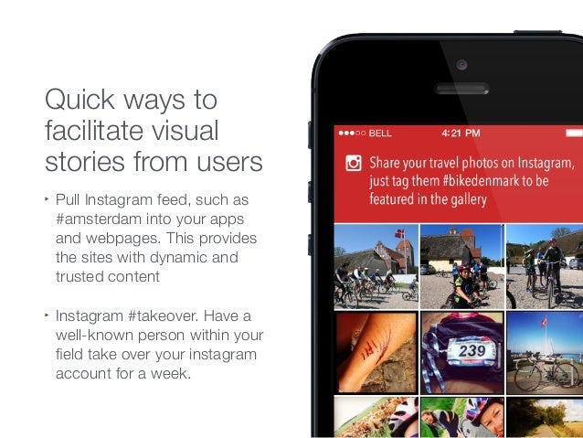 ‣ Pull Instagram feed, such as #amsterdam into your apps and webpages. This provides the sites with dynamic and trusted co...