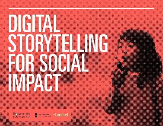 Digital Storytelling for Social Impact Slide 1