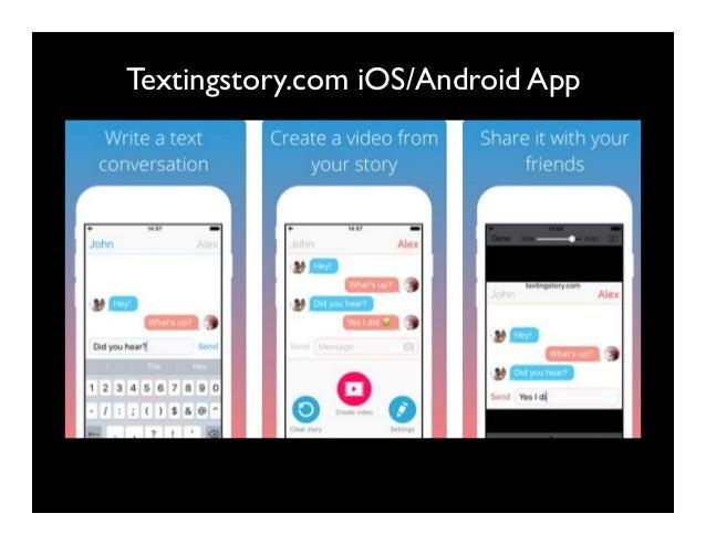 Textingstory.com iOS/Android App
