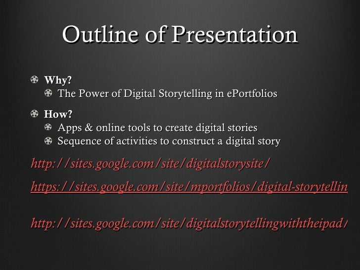 Digital storytelling SC 2012 Slide 2