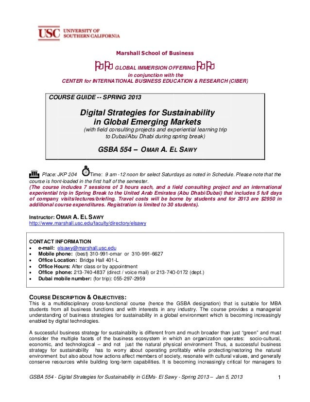 Digital Strategies for Sustainability in Global Emerging Markets