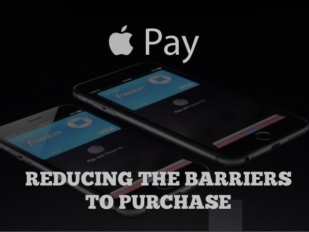 Pay  REDUCING THE BARRIERS  TO PURCHASE