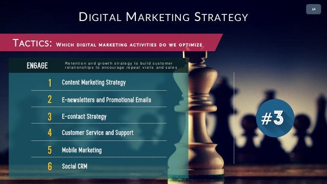 • 2 1 Content Marketing Strategy ENGAGE 2 E-newsletters and Promotional Emails 3 E-contact Strategy 4 Customer Service and...