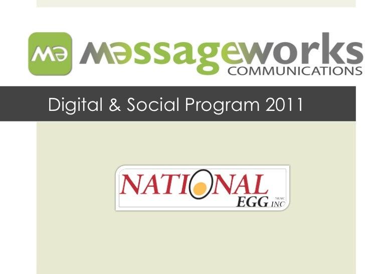 Digital & Social Program 2011