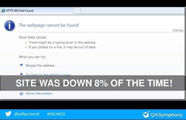 @jeffperkins8 #DSUM15@jeffperkins8 #DSUM15 SITE WAS DOWN 8% OF THE TIME!