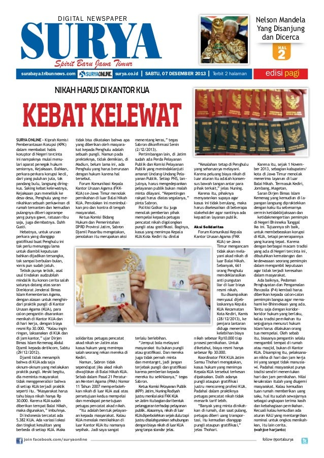 DIGITAL NEWSPAPER  Nelson Mandela Yang Disanjung dan Dicerca hal  2  Spirit Baru Jawa Timur surabaya.tribunnews.com  surya...