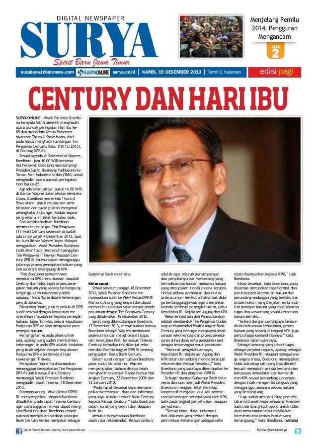 DIGITAL NEWSPAPER  Menjelang Pemilu 2014, Pengguran Mengancam hal  Spirit Baru Jawa Timur surabaya.tribunnews.com  surya.c...
