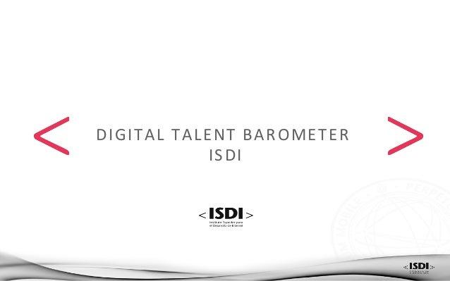 DIGITAL  TALENT  BAROMETER     ISDI