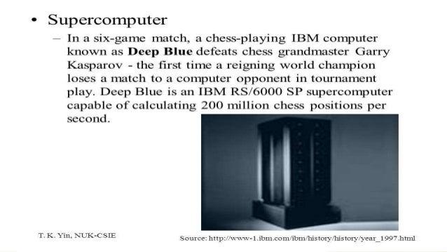 Gary Kasparov vs Deep Blue
