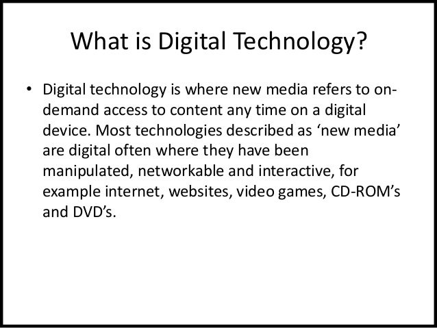 what is digital technology pdf