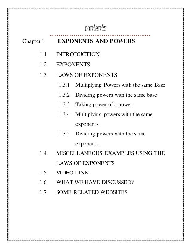 Digital textbook EXPONENTS AND POWERS – Laws of Exponents Worksheet Answers