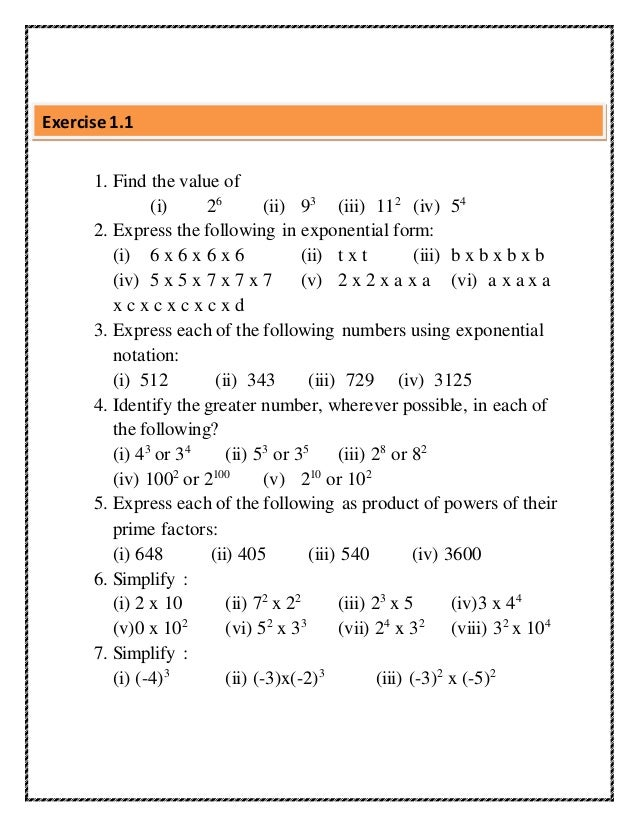 Digital textbook -EXPONENTS AND POWERS