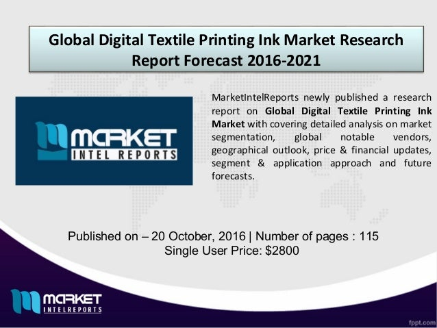 Global Printing Inks Market to Witness 7% CAGR During 2017 – 2023