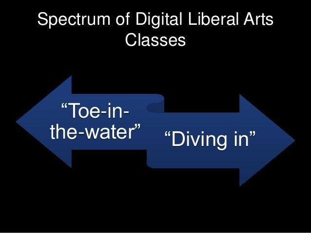 "Spectrum of Digital Liberal Arts Classes ""Toe-in- the-water"" ""Diving in"""