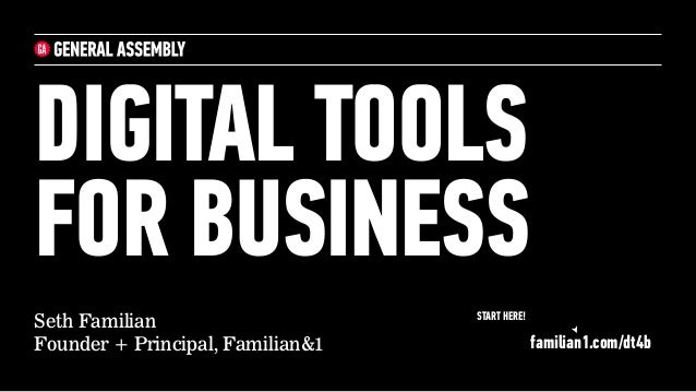 Seth Familian Founder + Principal, Familian&1 DIGITAL TOOLS 