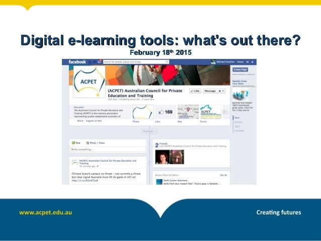 Digital e-learning tools: what's out there?Digital e-learning tools: what's out there? February 18February 18thth 20152015