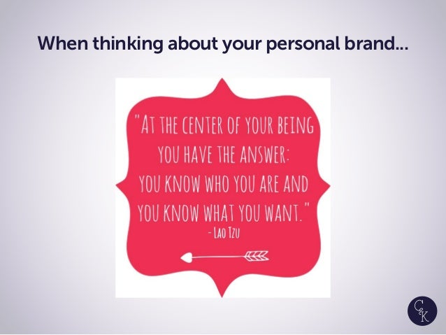 When thinking about your personal brand...