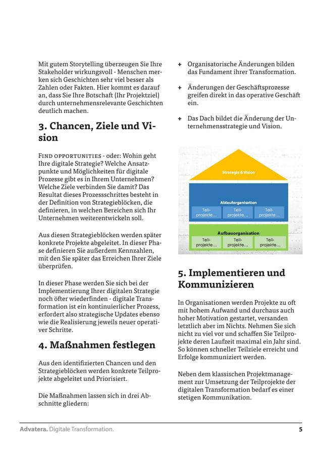 Advatera. Digitale Transformation. 5  Mit gutem Storytelling überzeugen Sie Ihre  Stakeholder wirkungsvoll - Menschen mer-...
