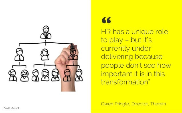 HR has a unique role to play – but it's currently under delivering because people don't see how important it is in this tr...