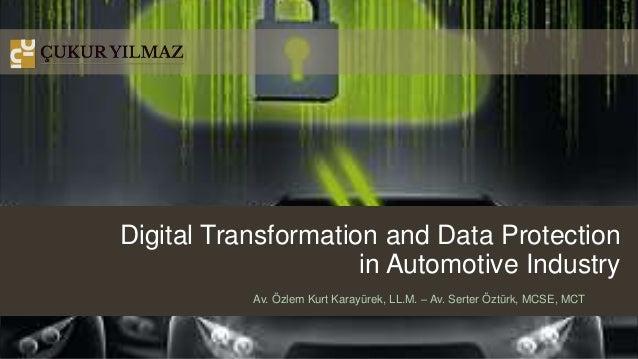 Digital Transformation and Data Protection in Automotive Industry Av. Özlem Kurt Karayürek, LL.M. – Av. Serter Öztürk, MCS...