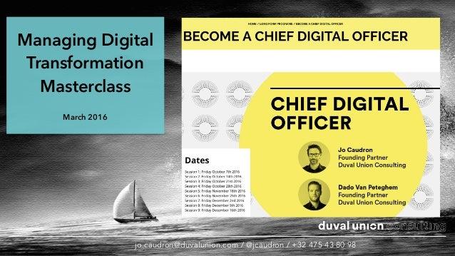Digital transformation masterclass june 2016