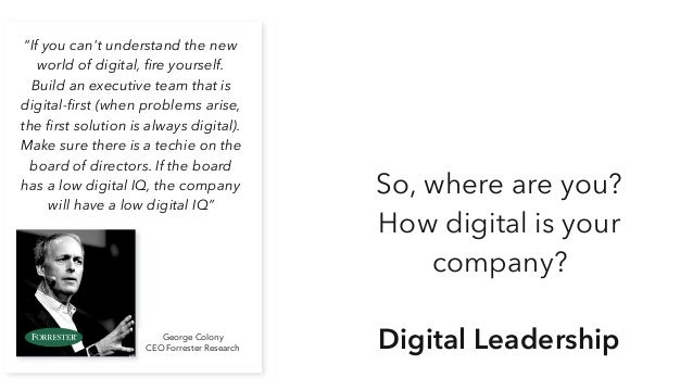 The ideal situation CEO Ideally your CEO is the digital lead CIO COO CbsOSalesMkt