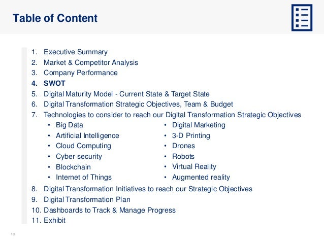 1818 Table of Content 1. Executive Summary 2. Market & Competitor Analysis 3. Company Performance 4. SWOT 5. Digital Matur...